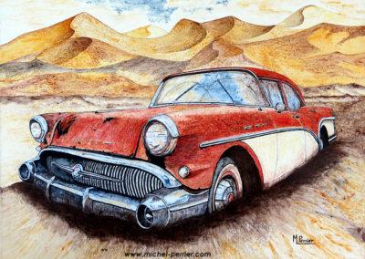 Diverses voitures américaines et françaises mythiques
