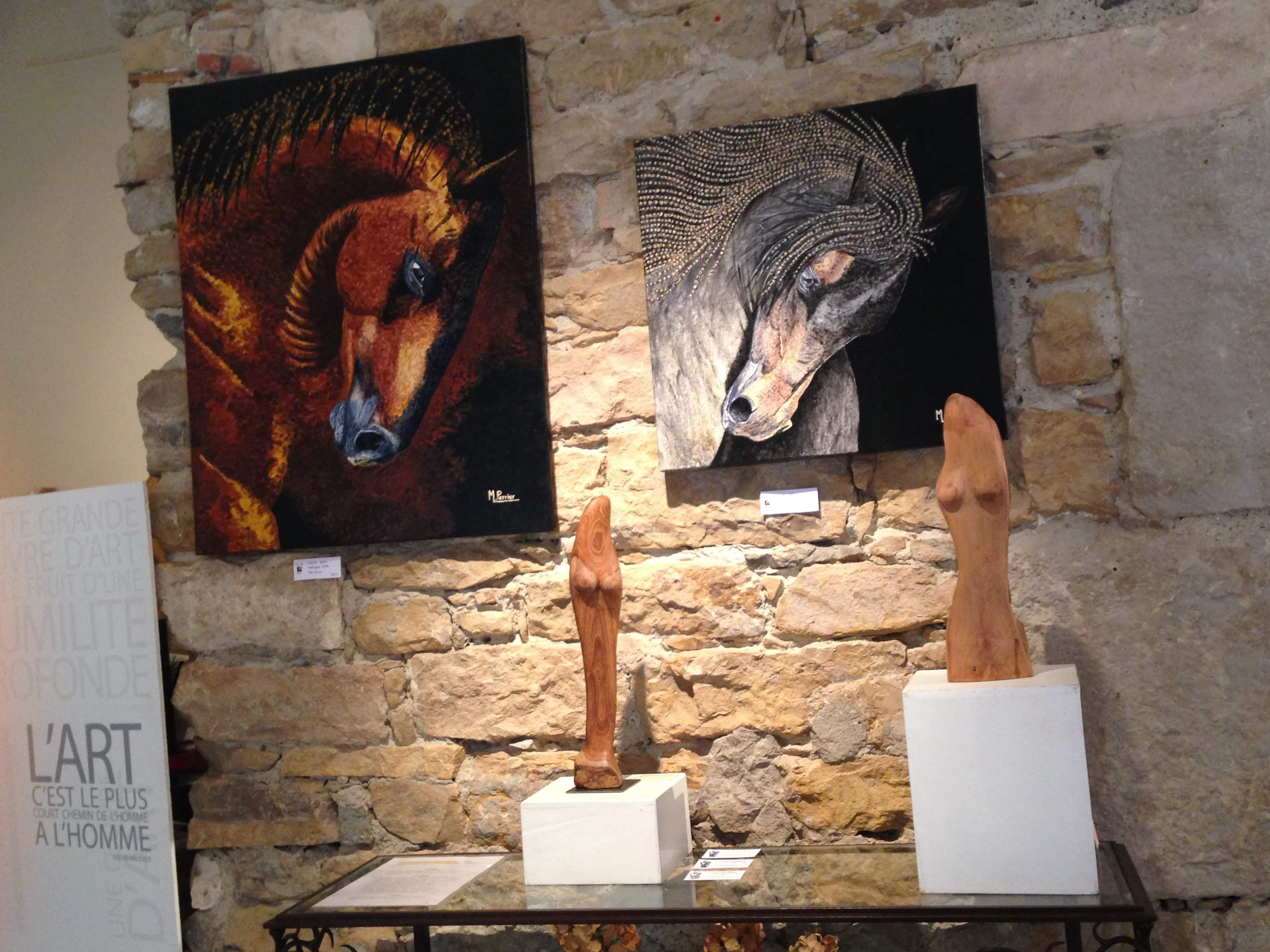 exposition lyon galerie de la tour - juillet 2018 - michel perrier