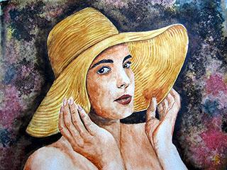 Demoiselle au chapeau