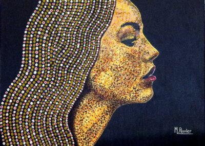 Profil Jeune Femme aux perles