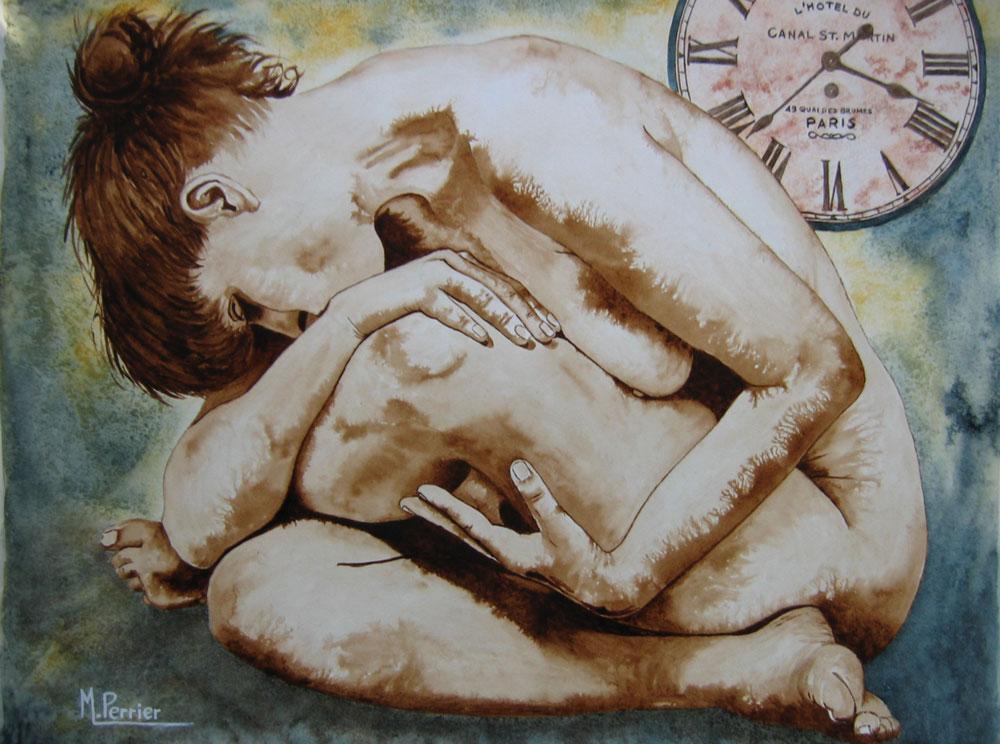 l'ère du temps suspendu ou nu à la pendule 1