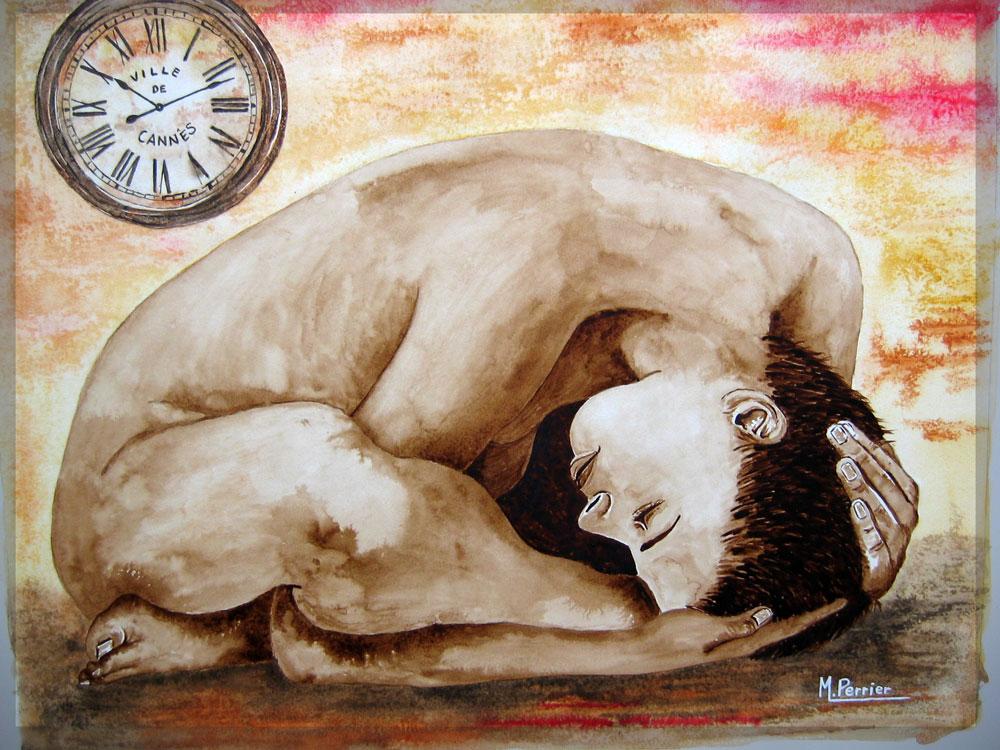 l'ère du temps suspendu ou nu à la pendule 2