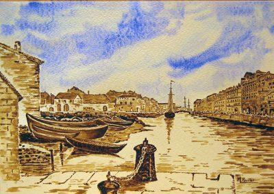 Port de Sète d'après une gravure ancienne