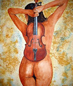 Jeune fille au violon