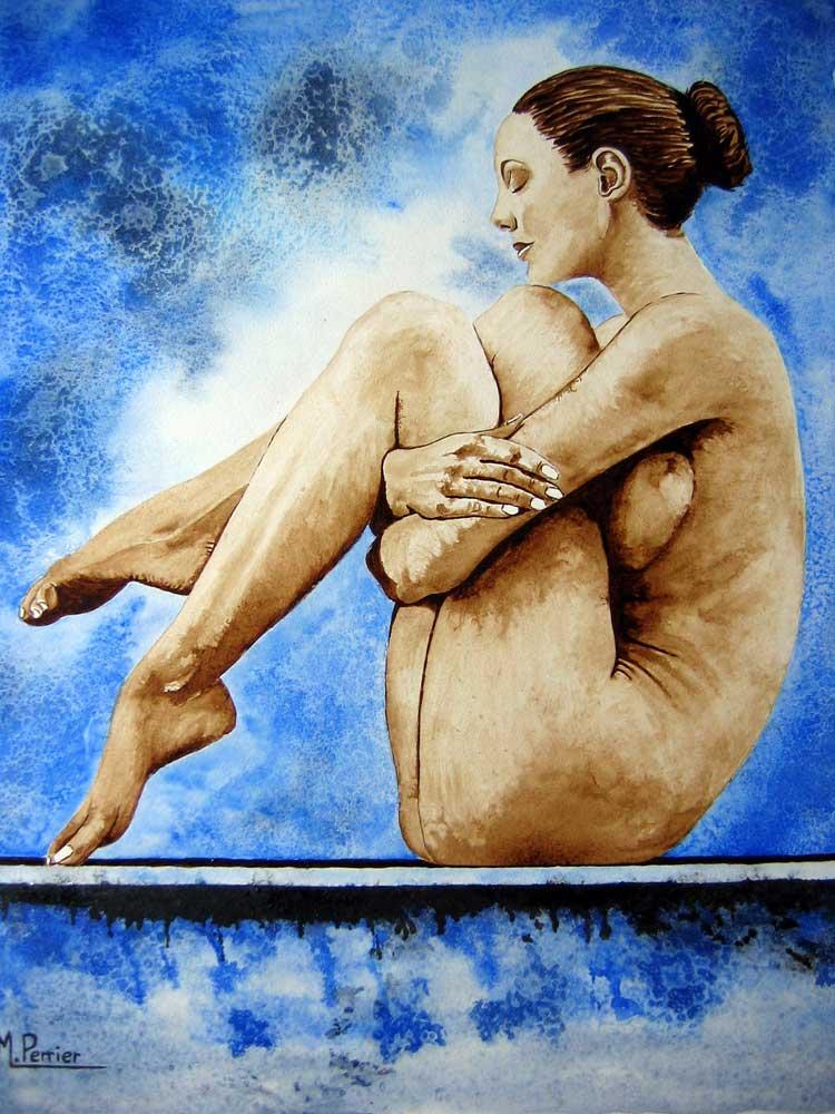 méditation fond bleu