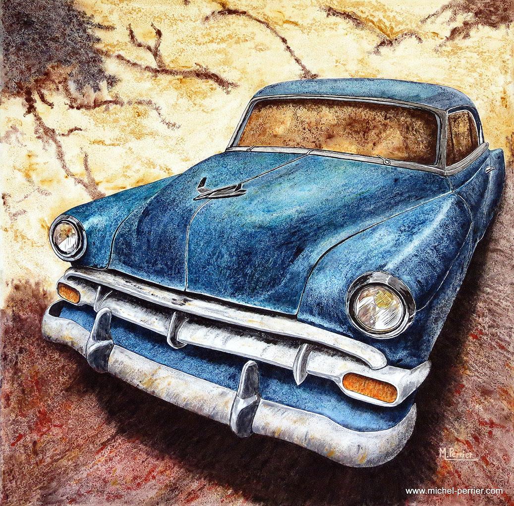 """Chevrolet figure parmi les marques automobiles emblématiques des""""fifties"""". Ce modèle Chevrolet 1950"""