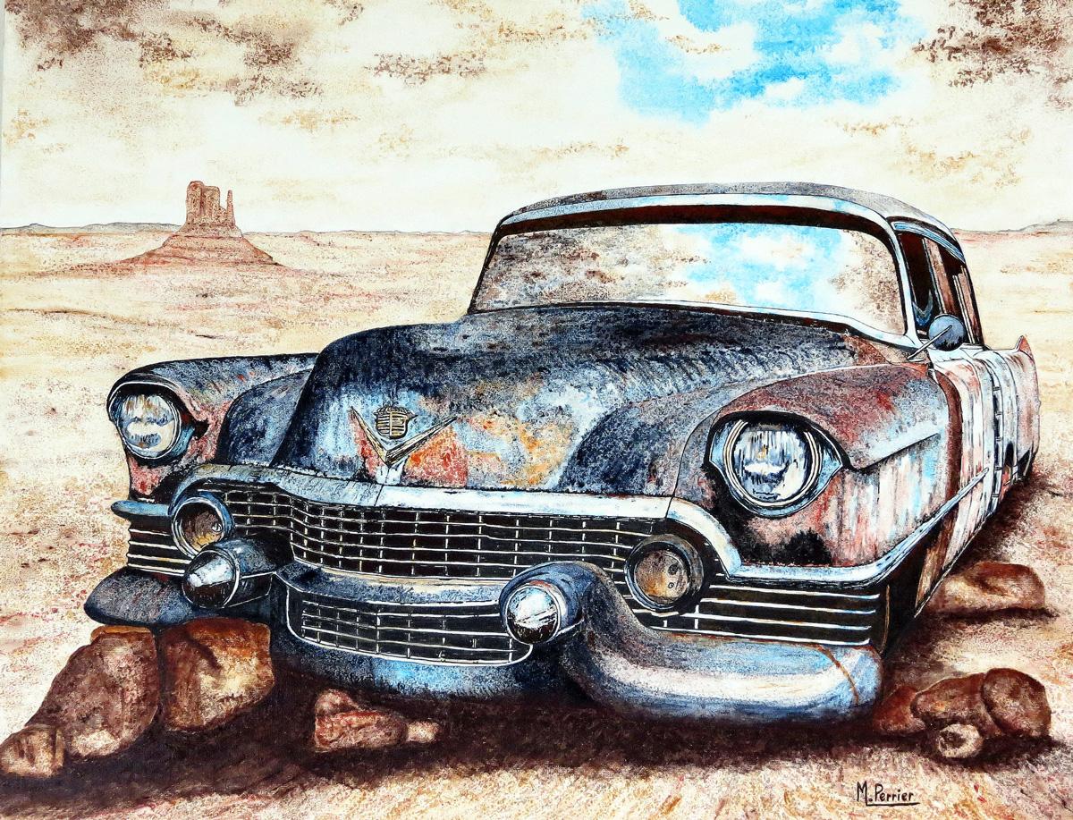 Cadillac 54 dans le désert