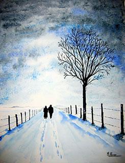 ensemble ou balade hivernale