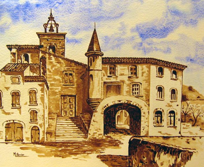 Port de Hyères (gravure ancienne)